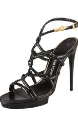 Tom Ford Python Interwoven Tube Sandal - Lyst