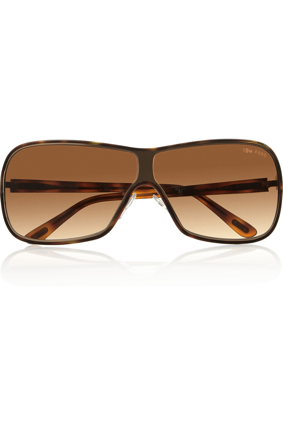 Tom Ford Havana Dframe Metal Sunglasses in Gold Lyst