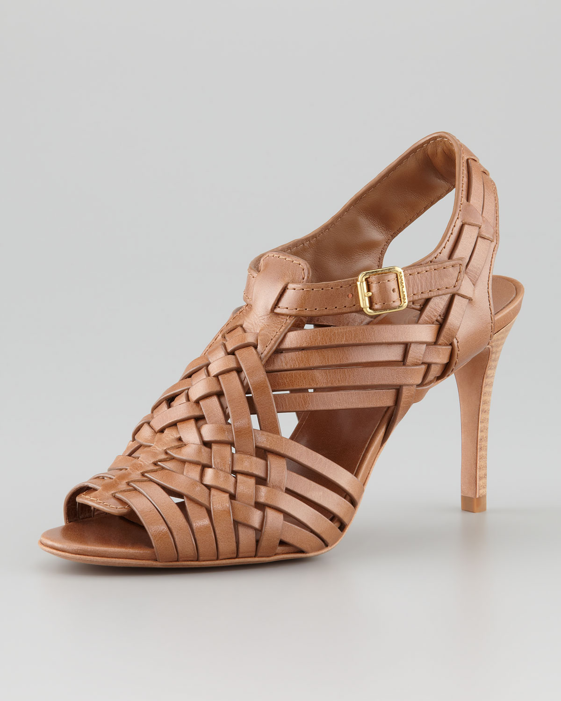 831b65b0abf2 Lyst - Tory Burch Nadia Huarache Sandal Royal Tan in Brown