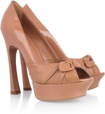 Yves Saint Laurent Leather and Suede Platform Pumps - Lyst
