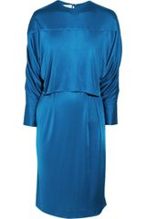 Yves Saint Laurent Satin Jersey Dress - Lyst