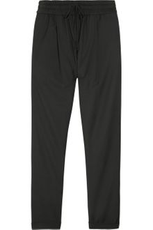 By Malene Birger Cropped Twill Track Pants - Lyst