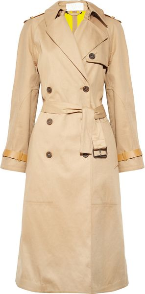 Chloé Cottontwill Trench Coat - Lyst