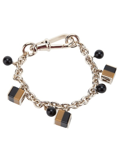 fendi cube charm bracelet in gold lyst