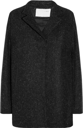 Iro Dalla Leathertrimmed Wool Coat - Lyst