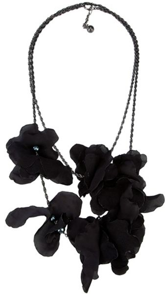 Lanvin Flower Petal Necklace - Lyst
