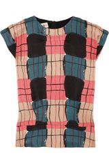 Marni Printed Wool and Silkblend Top - Lyst