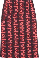 Marni Printed Wovenwool Skirt - Lyst