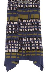 Marni Printed Silk Skirt - Lyst
