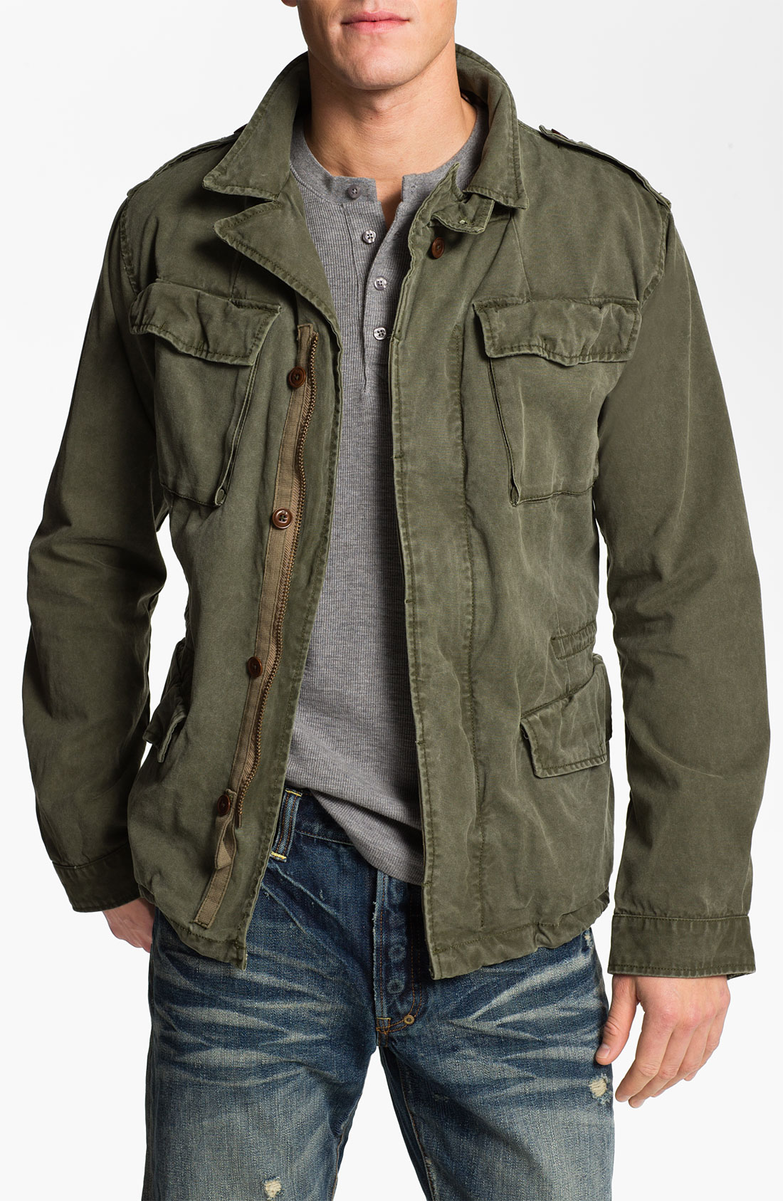 Scotch Soda Military Jacket In Green For Men Army Green Lyst