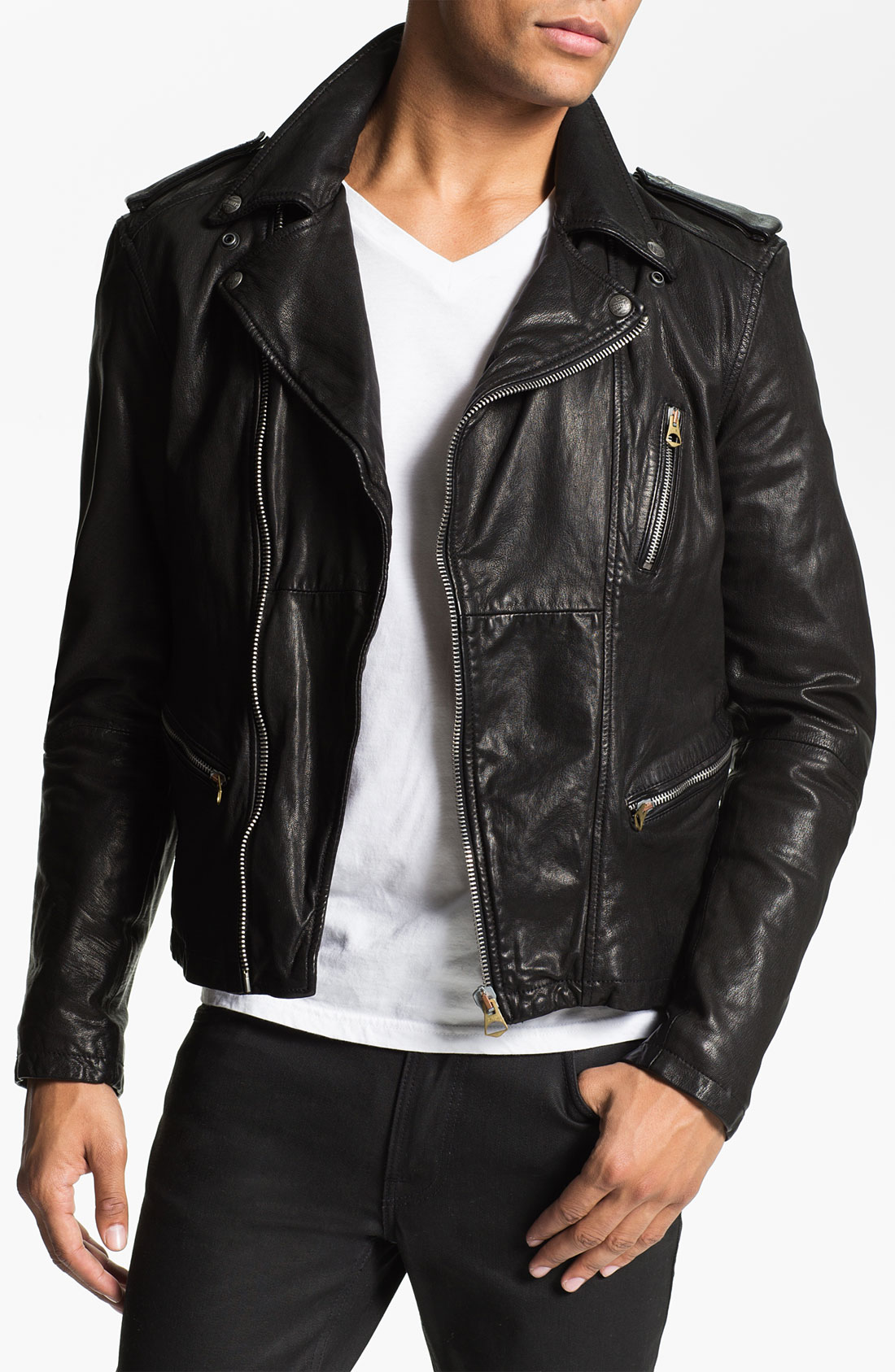schönen Glanz seriöse Seite hell im Glanz Scotch And Soda Lederjacke. lyst scotch soda leather biker ...