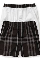 Burberry Check Woven Boxers Set Of  Two - Lyst