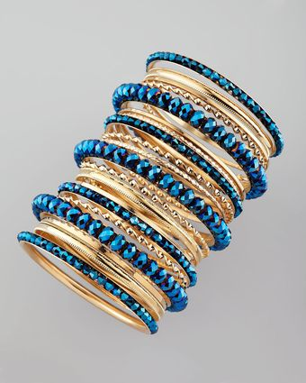 Cara Accessories 24piece Bangle Set Blue - Lyst