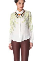 Clover Canyon Neon Filigree Blouse - Lyst