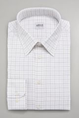 Giorgio Armani Tatersall Dress Shirt - Lyst