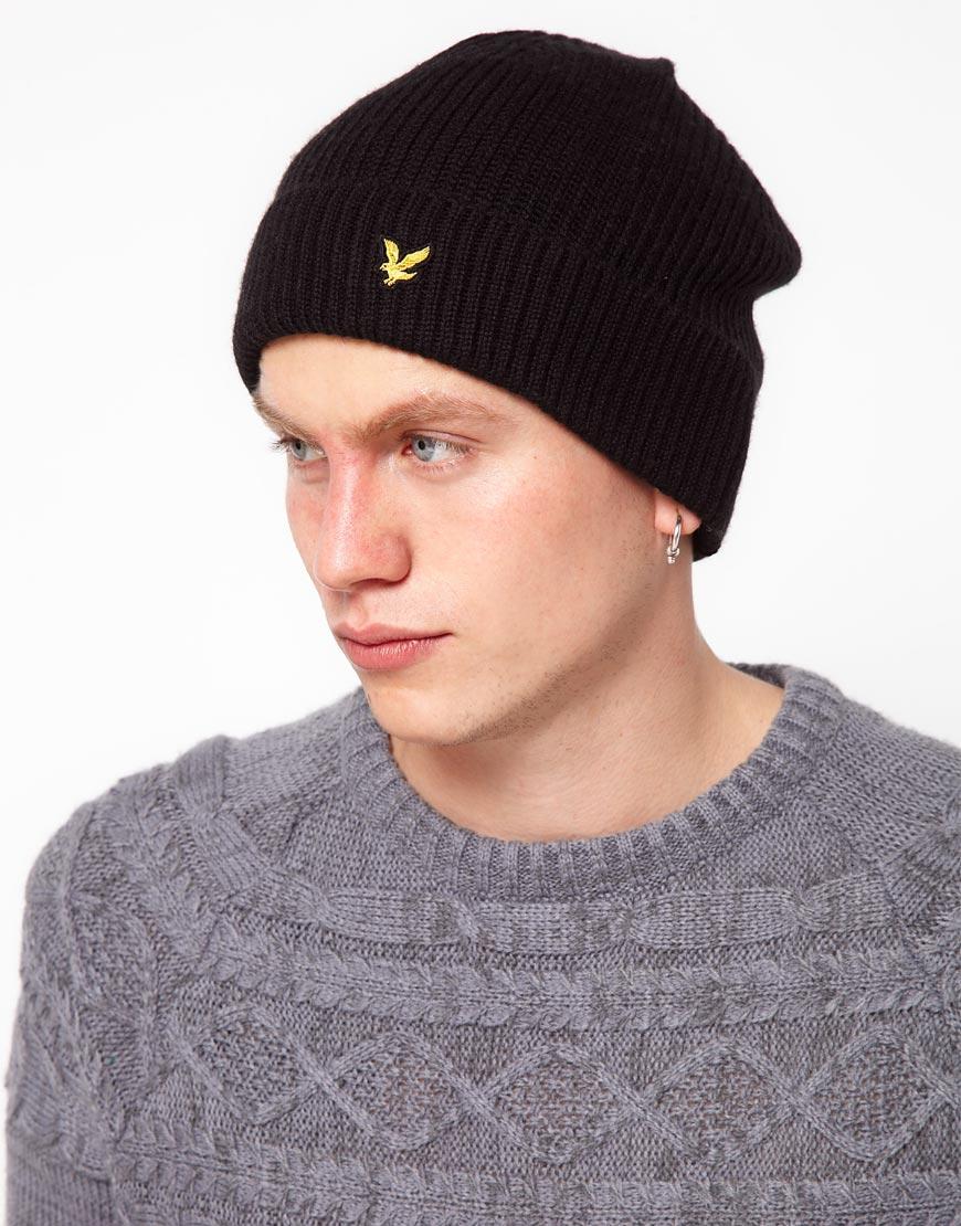 bbe8de1e7336c Lyle   Scott Beanie Hat in Black for Men - Lyst