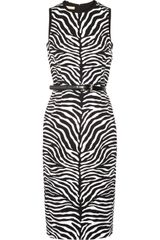Michael Kors Zebra-print Crepe Dress - Lyst