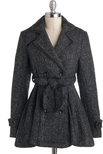 ModCloth Posh Peppercorn Coat - Lyst