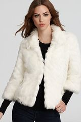 Parker Guess Jacket Faux Fur - Lyst