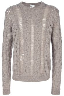 Paul Smith Laddered Cable Knit Sweater - Lyst