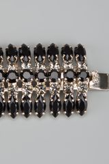 Stella Mccartney Gem Bracelet in Silver (black) - Lyst