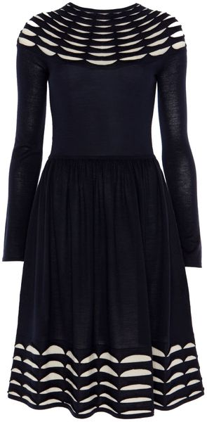 Temperley London Pleated Knit Flared Dress - Lyst