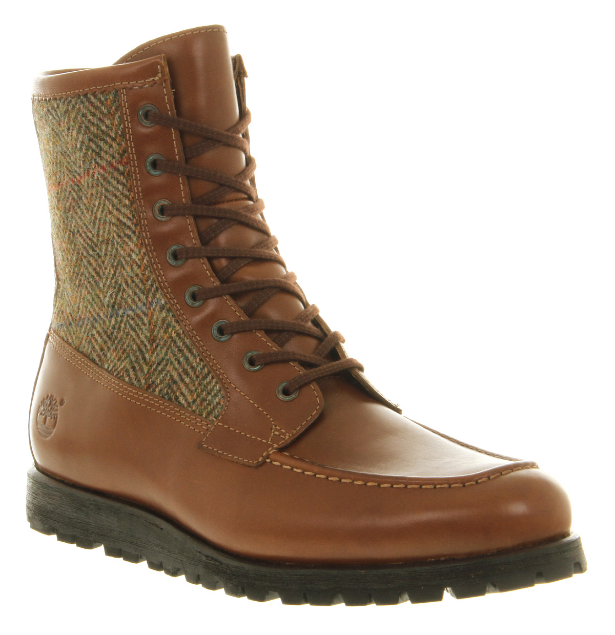 timberland heritage alpine boot brown leather in brown for