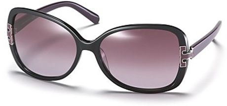 Tory Burch Butterfly Frame Acetate Sunglasses in Black (black purple) - Lyst