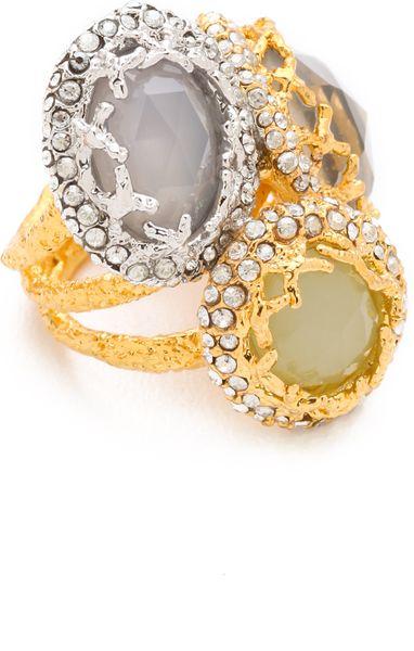 Alexis Bittar Siyabona Cerulean Ring in Gold