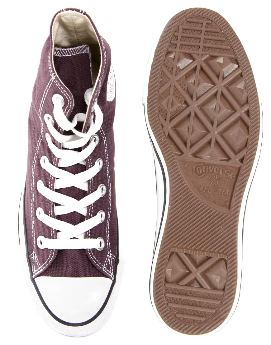 4072e00f1b1f Lyst - Converse All Star Speciality Burgundy High Top Trainers in Purple