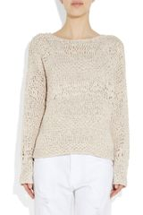 Donna Karan New York Openknit Crepe Sweater in White - Lyst