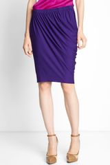 Lanvin Draped Jersey Skirt - Lyst