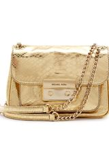 Michael by Michael Kors Small Sloan Pythonembossed Shoulder Bag - Lyst