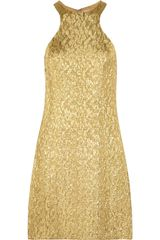 Michael Kors Metallic Brocade Dress