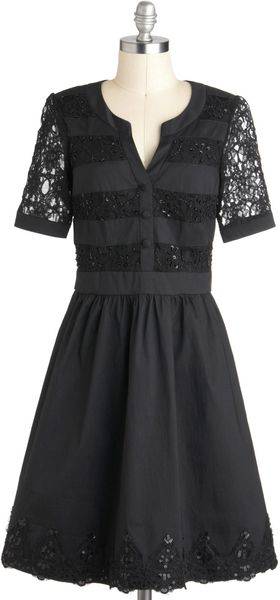 ModCloth Welltodew Dress in Noir - Lyst