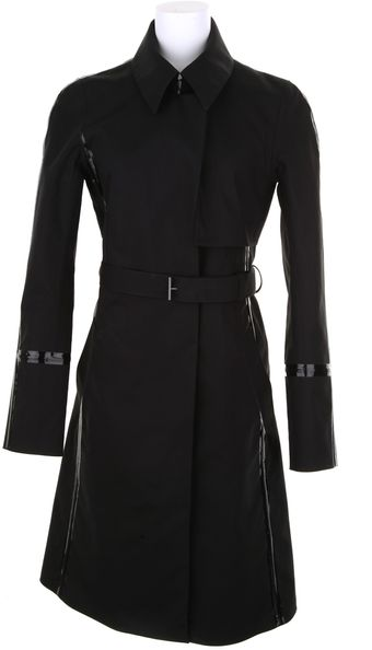 Reed Krakoff Black Trench Coat in Waterrepellent Polyurethane - Lyst