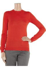Stella Mccartney Fineknit Wool Sweater in Red (tomato) - Lyst