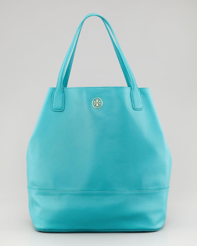 Lyst - Tory Burch Michelle Leather Tote Bag in Blue 61c8f16e0417f