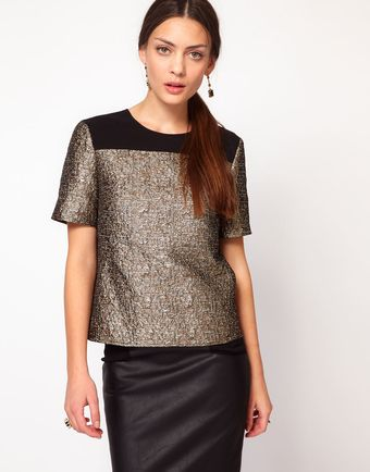 Whistles Noel Boucle Top - Lyst