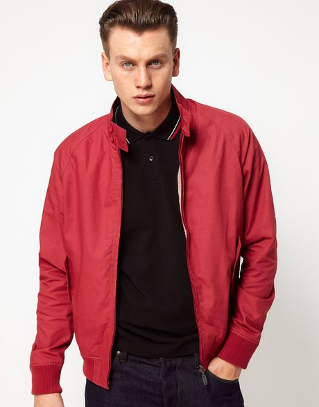 Ben Sherman Harrington Jacket In For Men Atlanticcoralred