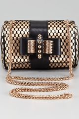 Christian Louboutin Sweet Charity Satinlace Clutch Bag - Lyst