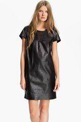Diane Von Furstenberg Meyda Leather Shift Dress - Lyst
