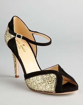2ca41c2610e Lyst - Kate Spade Peep Toe Evening Sandals Corinne High Heel in Metallic