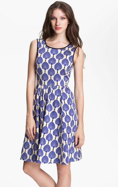 Kate Spade Matty Dress In White Blue Lyst