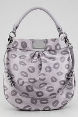 Marc By Marc Jacobs Classic Q Smack Hillier Hobo Bag Light Gray - Lyst