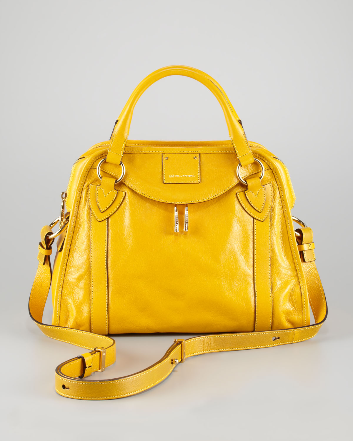 Marc jacobs Classic Wellington Satchel Bag Yellow in Yellow | Lyst