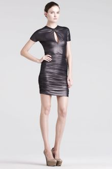 Pierre Balmain Ruched Keyhole Dress - Lyst
