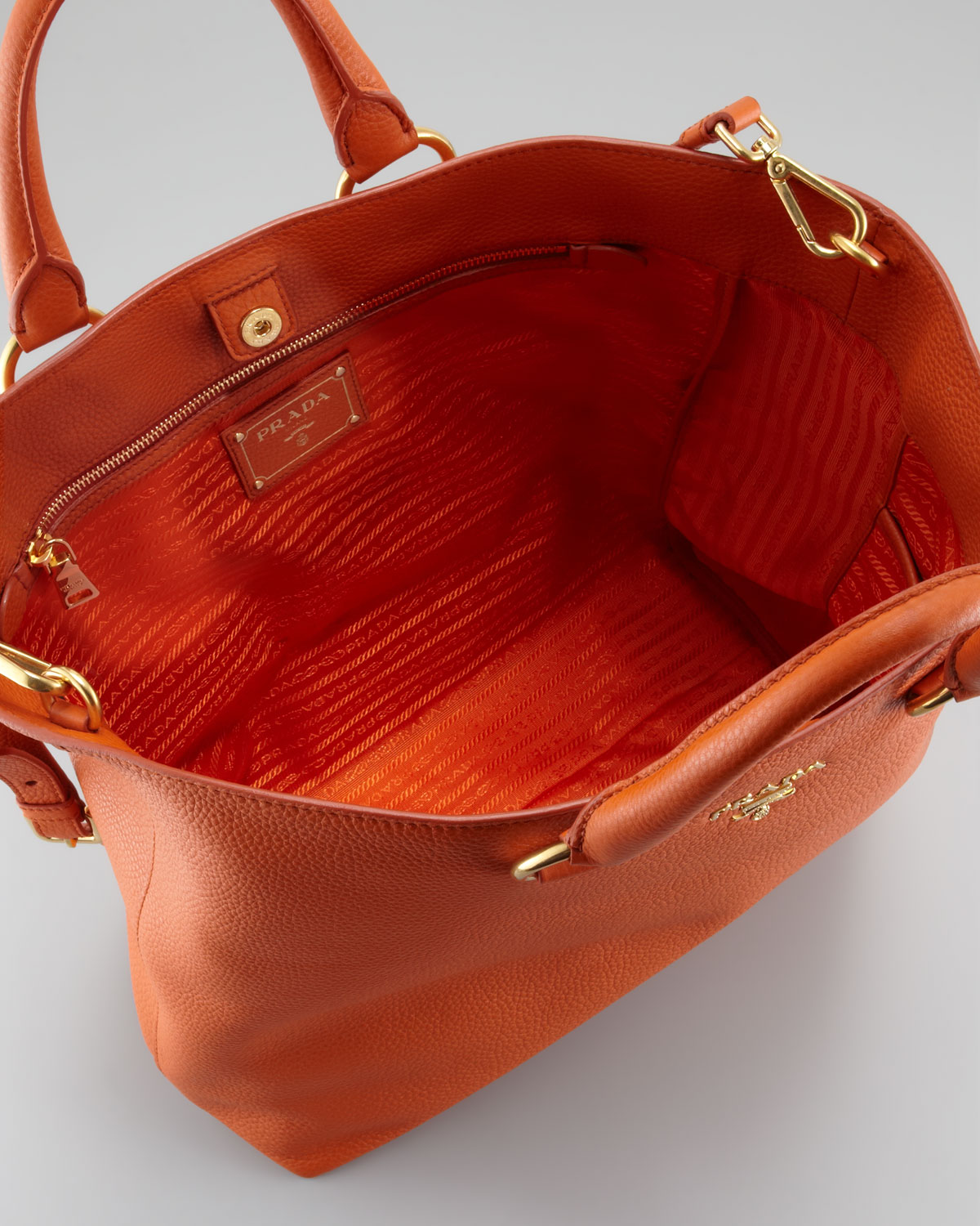 7b204ae85d77 Prada tote orange