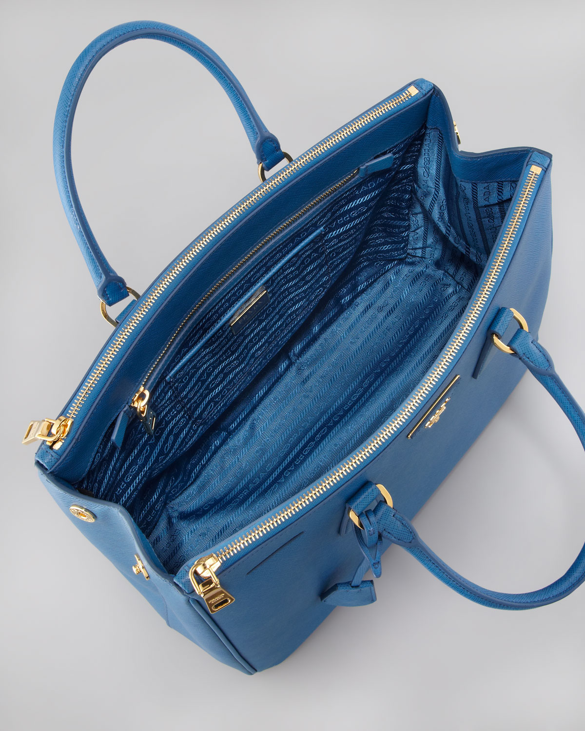 Prada Saffiano Executive Tote Bag Cobalto in Blue (cobalto) | Lyst