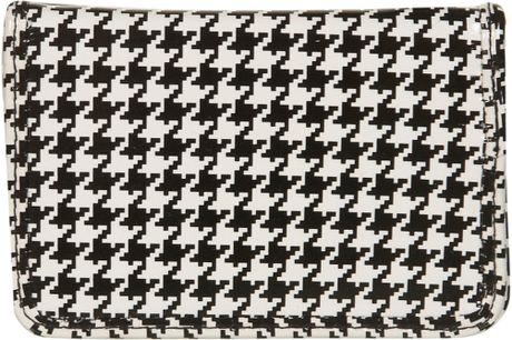 Topshop Dogtooth Card Holder in Black (monochrome)